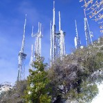 TV and radio towers on Mt Wilson