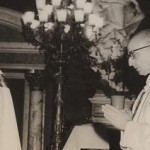 n this 1973 photo released by the El Salvador School, Priest Jorge Mario Bergoglio, right, and priest Pedro Arupe give a Mass at the church in the El Salvador school in Buenos Aires, Argentina. Bergoglio was elected pope on Wednesday, March 13, 2013, making him the first pope ever from the Americas. Bergoglio, who was born in 1936, chose the name Pope Francis. (AP Photo/El Salvador School)